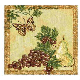 Бабочка с виноградом (26х26 см) — комплект салфеток 6 шт
