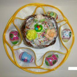Хризантема (белая) d38 см — салфетка пасхальная