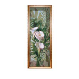 Белые каллы (27х73 см) — картина в багете