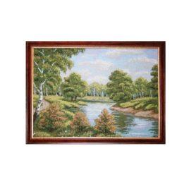 Берёза у озера (54*43 см) — картина в багете