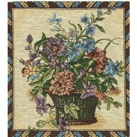 Букет с гвоздикой 35*35 см — салфетка декоративная