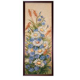 Дачный букет (26*65 см) — картина в багете