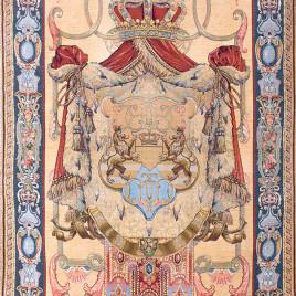 Фамильный герб (с шинилом) 115х165 см — панно гобеленовое на подкладке