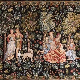 Галантная сцена (170*235 см) — скатерть декоративная на подкладке
