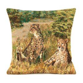 Гепарды (38х38 см) — наволочка декоративная