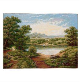 Изумрудный пейзаж (70*50 см) — гобелен без рамки