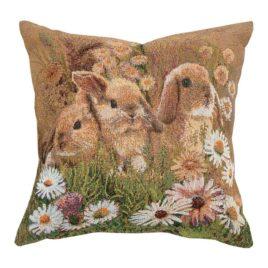 Крольчата (35х35 см) — наволочка декоративная