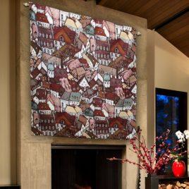 Крыши (150х150 см) — панно гобеленовое на подкладке
