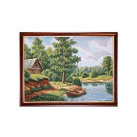 Лодка рыбака (50х37 см) — картина в багете