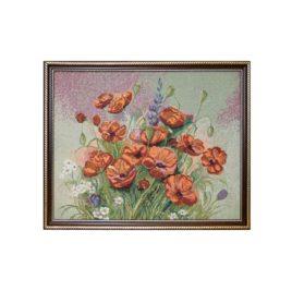 Маковый цвет (54*40 см) — картина в багете