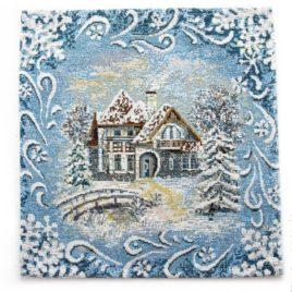 Мороз (26х26 см) — салфетка декоративная