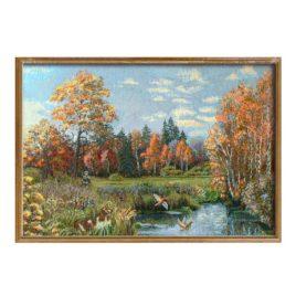 Охота (79х53 см) — картина в багете