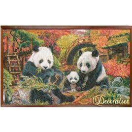 Панды (91х53 см) — картина в багете