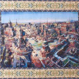 Париж (240х180 см) — накидка на диван на подкладке