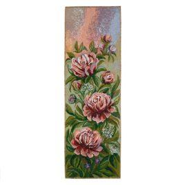 Пионы розовые (27*80 см) — гобелен без рамки