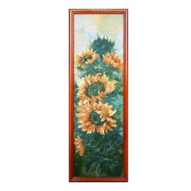 Подсолнухи (26*80 см) — картина в багете