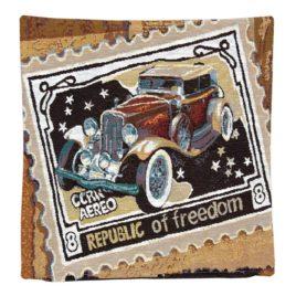 Ретро авто (40х40 см) — наволочка декоративная
