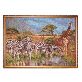 Саванна зебры (76*54 см) — картина в багете