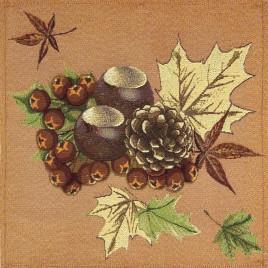 Сентябрь Орехи (38х38 см) — комплект салфеток 4 шт