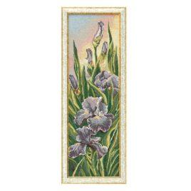 Сиреневый ирис (27*80 см) — картина в багете