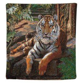 Тигрица (40х40 см) — наволочка гобеленовая