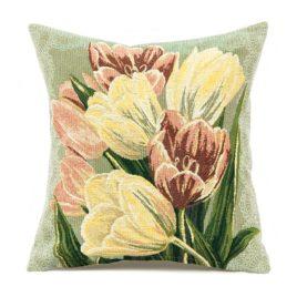 Тюльпаны весенние (38х38 см) — наволочка декоративная