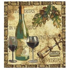 Винотека 38*38 см — комплект салфеток 4 шт