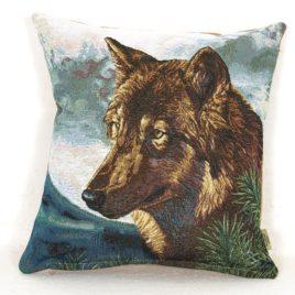 Волк (38*38 см) — наволочка декоративная