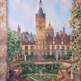 Замок (180х235 см) — гобелен без рамки