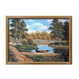 Заводь (73*52 см) — картина в багете