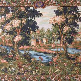 Зелень Шантильи (140х230 см) — скатерть декоративная на подкладке