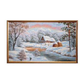 Зимнее утро (90*52) см — картина в багете
