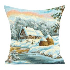 Зимнее утро (50х50 см) — наволочка декоративная