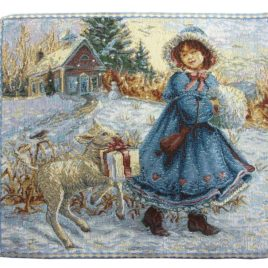Зимняя сказка (28х26 см) — салфетка декоративная
