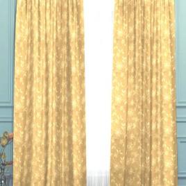 Корица (золото) 145*280 см — комплект штор