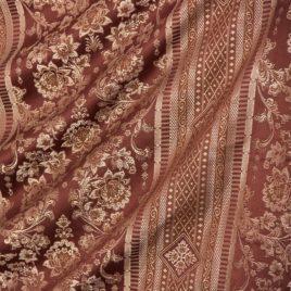 Кружева (шоколад с серебром) — ткань портьерная