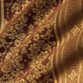 Кружева (шоколад с золотом) — ткань портьерная