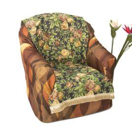 Ретро розы (70х160 см) — накидка на кресло
