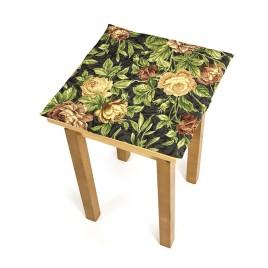 Ретро розы (38*38 см) — сидение на табурет