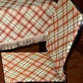Шотландка (коричневая) 38*100 см — сидение на стул