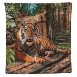 Тигр (40х40 см) — наволочка гобеленовая