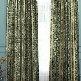 Верона (изумруд) 145х260 см — комплект штор