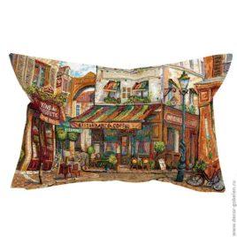 Итальянский дворик (48х30 см) — наволочка гобеленовая