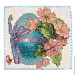 Пасхальное яичко голубое (26х26 см) — комплект салфеток 4 шт