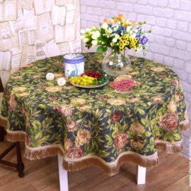 Ретро розы (d 160 см) — скатерть гобеленовая