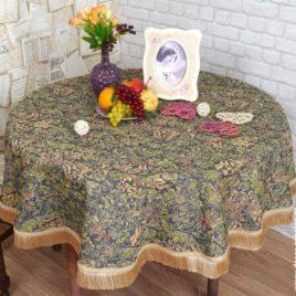 Винтаж (d 160 см) — скатерть гобеленовая