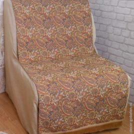 Восток (беж) 70х160 см — накидка на кресло