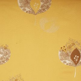 Абстрактный лист (золото) 145*280 см — комплект штор