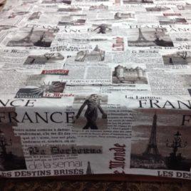 Газета (150х280 см) — покрывало декоративное