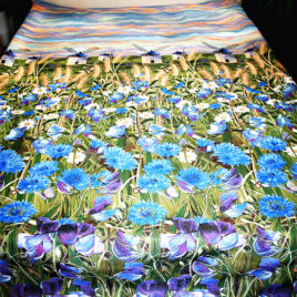 Васильки (250х235 см) — покрывало декоративное